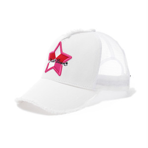 【スターリアン】StarLean★ 5パーツ刺繍メッシュキャップ(PINK)