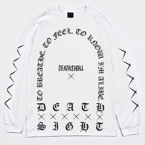 GRAVE L/S TEES / WHITE