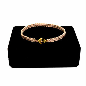 【無料ギフト包装/送料無料/限定/即納】K18 Gold Anchor Bracelet / Anklet Beige【品番 17S2010】