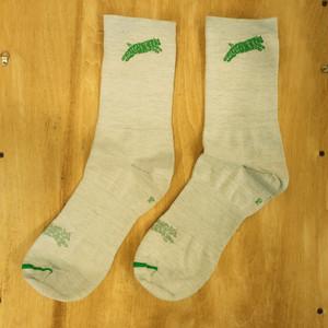 TEAM DREAM BICYCLING TEAM / NEW Heather Supreme Socks (GREEN)