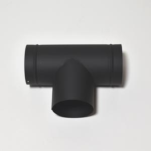 ホンマ製作所 黒耐熱ステンレスT笠 φ106mm 90度