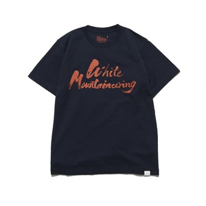 "PRINTED T-SHIRT ""WHITE MOUNTAINEERING"" - NAVY"