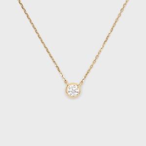 ENUOVE frutta Diamond Necklace K18YG(イノーヴェ フルッタ 0.25ct K18イエローゴールド フクリン留めダイヤモンドネックレス アジャスターワカンチェーン)