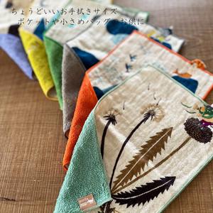 森田Miw 飛び出る刺繍のポケットタオルハンカチ