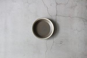 木村硝子×イイホシユミコ【Yumiko Iihoshi porcelain】 18cmプレート dishes 180 plate (moss gray) /matte