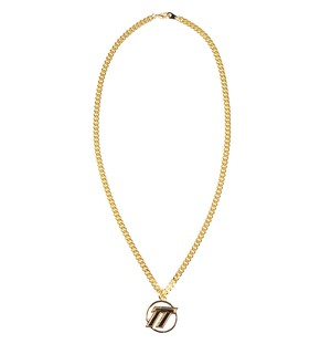 D.TT.K EMBLEM LOGO NECKLACE GOLD