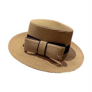 全4色パイピングリボン付きカンカン帽