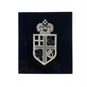 王冠×シールド型紋章ワッペン