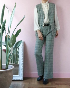 70's glen check pants