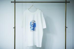 【BASI × sankara】フロントバックリバーシブル Tee / White