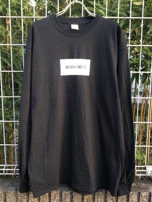 Will×Will BOX LOGO long T- shirts 【BLACK】