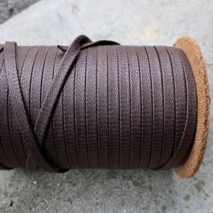 極上の艶 靴紐 (ダークブラウン) 平紐 7mm 極太