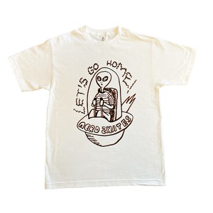 LET'S GO HOME ALIEN TSHIRT(WHITE)