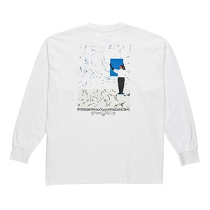 POLAR SKATE CO. HANGING A PAINTING LONG SLEEVE TEE WHITE M ポーラー ロングTシャツ