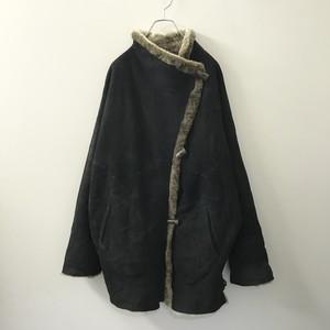 Loring hoven ミュンヘン製 Handmade 裏ボア ジャケット 羽織り ブラック メンズ 古着