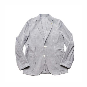GIANNETTO/ジャンネット シアサッカーシングルシャツジャケット