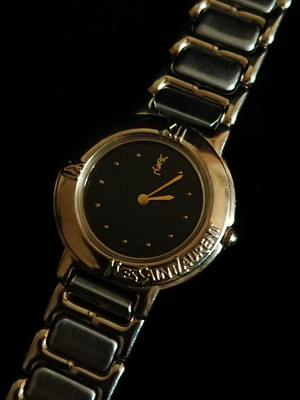 """YSL Small Metal Watch """"Black Face"""""""