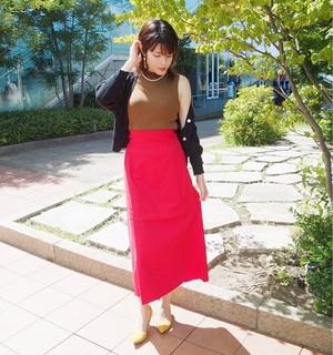 ◆ハイウエストロングスカート◆B0006
