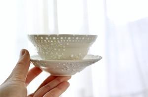 ミモザ蛍白茶器