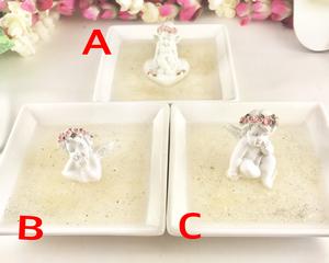 2/26新着★レムリアンシード粉を敷き詰めた天使の浄化皿☆