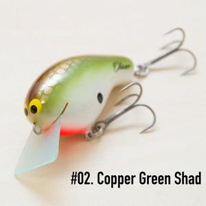 "BRISKY LURES  /  "" Oliver "" / #02. Copper Green Shad"
