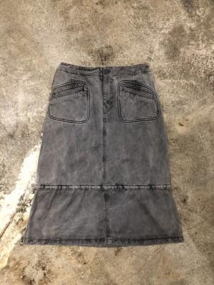 OLD Black Denim Skirt