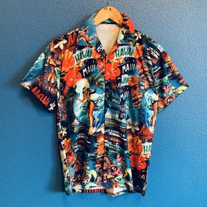フラガール&マーメイドのアロハシャツ