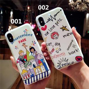 オリジナル iphoneXケース 落書き風 王子 お姫様 アイフォン8プラスカバー カワイイ カップルにお勧め 送料無料