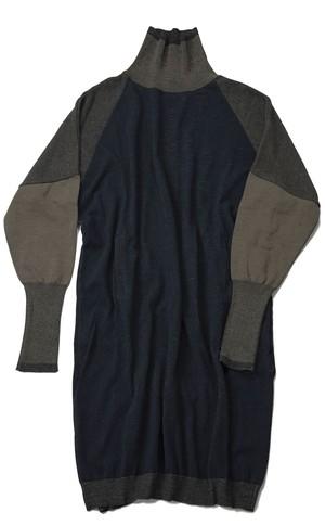 YANTOR 12G Cotton Skin Knit Turtle One-Piece (NAVY) [Y194KN03]