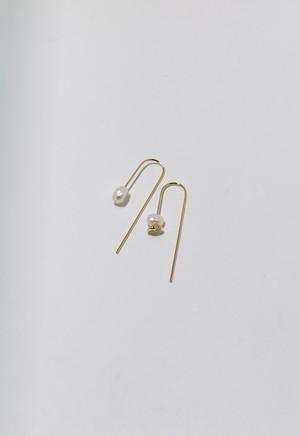 flesh water pearl umbrella pierce Gold