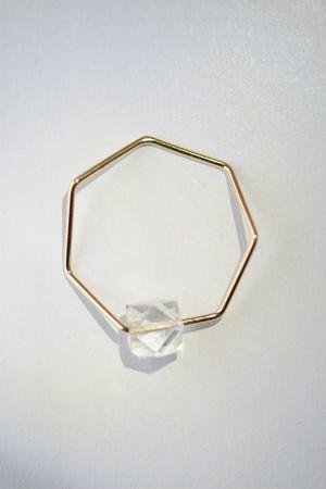 siki 七角形と水晶のリング
