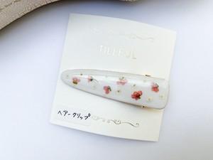 【TILLEUL】花柄のヘアクリップ(サーモンピンク)