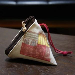 三角キーケース「街並」