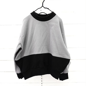 2TONE SWEAT TP -BEAR MT ELBOW PATCH / WOMEN