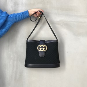 old GUCCI big logo shoulder bag