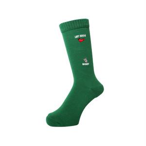 WHIMSY - HAND SIGN SOCKS (Green)