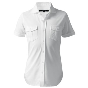 DJS-003 decollouomo メンズパイロットシャツ 半袖 concorde - ピュアホワイト