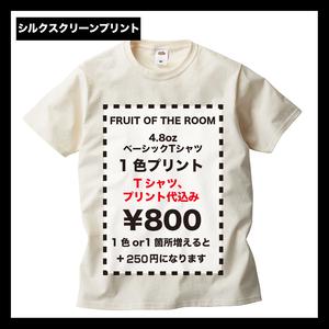 FRUIT OF THE ROOM フルーツ ベーシックTシャツ 4.8oz (品番J3930HD)