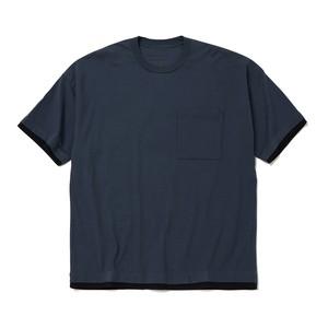 LAYERED WIDE T-SHIRT - BLUE GRAY