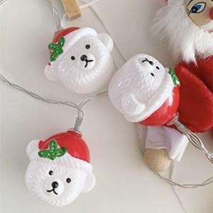christmas santa bear LED light / クリスマス サンタクロース ベア ライト くまさん 照明 電球 韓国雑貨