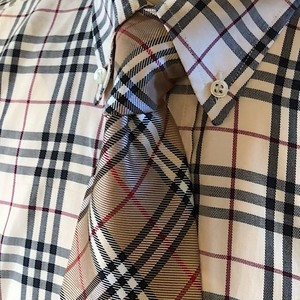1990s-2000s Burberry of London Check Tie Made In Italy