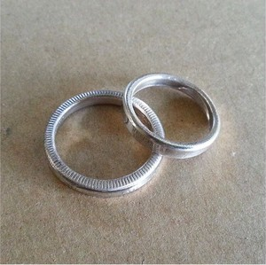 25¢ SEAMLESS PINKY PAIR RING NW-P1