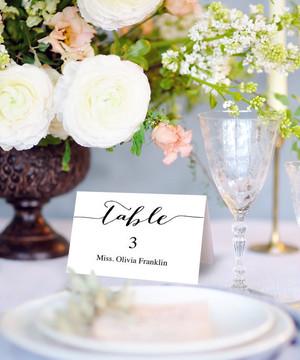 【Simple】ゲストが何名でもこの値段♥︎自分で作る海外ウェディング風 席札│結婚式