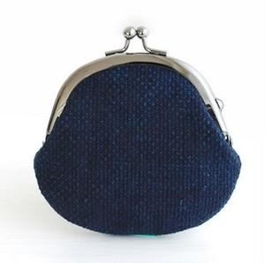 武州正藍染 小粒刺子 がま口(2.8寸 S)