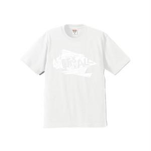 【斬る'em ALL】ロゴTシャツ 白×白(送料込み)