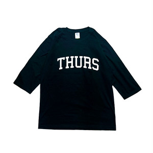 THURSDAY - COLLEGE 1/2 SLEEVE TEE (Black)