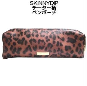skinnydip チーター ペンポーチ ペンケース cheetah day pencil case 動物柄 横長 ゴールドファスナー おしゃれ
