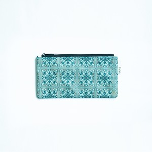 Ashi|亜紙 Flat Pouch M*Tile Blue 紙ポーチ タイル