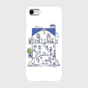 iPhone7 青い屋根のうさぎの館スマホケース