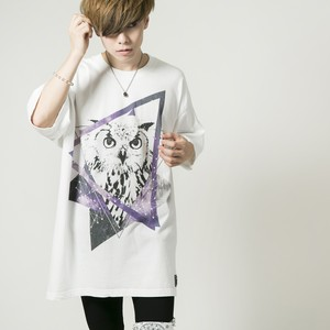 Big Silhouette Owl T-shirt White